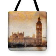 Big Ben at dusk Tote Bag by Pixel Chimp