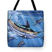 Big Blue And Tuna Tote Bag by Terry Fox