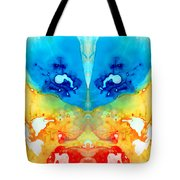 Big Blue Love - Visionary Art By Sharon Cummings Tote Bag by Sharon Cummings