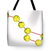 Big Dipper composed by cucumber slices food art Tote Bag by Paul Ge