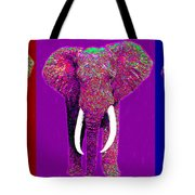 Big Elephant Three 20130201v2 Tote Bag by Wingsdomain Art and Photography
