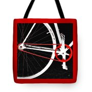 Bike In Black White And Red No 2 Tote Bag by Ben and Raisa Gertsberg