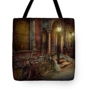 Bike - NY - Greenwich Village - In the village  Tote Bag by Mike Savad