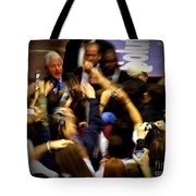 Bill Clinton At Muhlenberg College Tote Bag by Jacqueline M Lewis