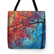 Birds And Blossoms By Madart Tote Bag by Megan Duncanson