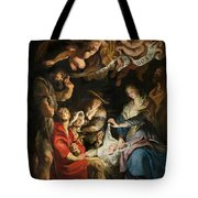 Birth Of Christ Adoration Of The Shepherds Tote Bag by Peter Paul Rubens