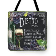 Bistro Paris Tote Bag by Debbie DeWitt