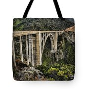 Bixby Creek Bridge Tote Bag by Heather Applegate