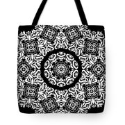 Black And White Medallion 10 Tote Bag by Angelina Vick
