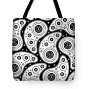Black And White Paisley Tote Bag by Frank Tschakert