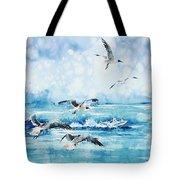 Black-headed Seagulls At Seven Seas Beach Tote Bag by Zaira Dzhaubaeva