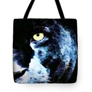 Black Panther Art - After Midnight Tote Bag by Sharon Cummings