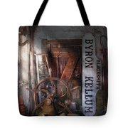 Black Smith - Byron Kellum Blacksmith Tote Bag by Mike Savad