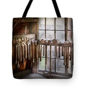 Black Smith - Draw plates and hammers  Tote Bag by Mike Savad
