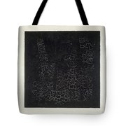 Black Square Tote Bag by Kazimir Malevich