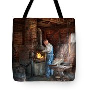 Blacksmith - The Importance Of The Blacksmith Tote Bag by Mike Savad