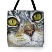 Stunning Cat Painting Tote Bag by Michelle Wrighton