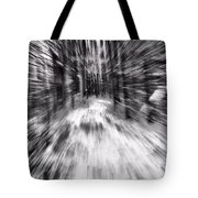 Blizzard In The Forest Tote Bag by Dan Sproul