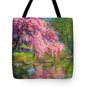 Blossoming Trees Landscape  Tote Bag by Svetlana Novikova