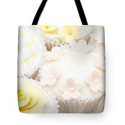 Blossoms And Bows Cupcake Tote Bag by Anne Gilbert