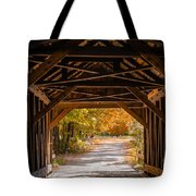 Blow-me-down Covered Bridge Cornish New Hampshire Tote Bag by Edward Fielding