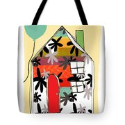 Blue Balloon Tote Bag by Linda Woods