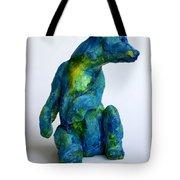 Blue Bear Tote Bag by Derrick Higgins
