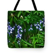 Blue Bells Tote Bag by Aimee L Maher Photography and Art