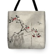Blue bird Tote Bag by Aged Pixel