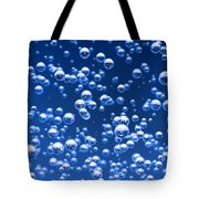 Blue Bubbles Tote Bag by Bruno Haver