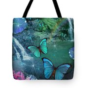 Blue Butterfly Dream Tote Bag by Alixandra Mullins