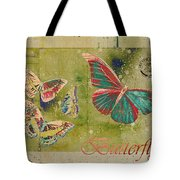 Blue Butterfly Etc - S55ct01 Tote Bag by Variance Collections