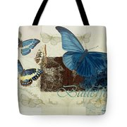 Blue Butterfly - J152164152-01 Tote Bag by Variance Collections