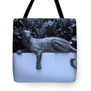 Blue Cat Tote Bag by Rob Hans