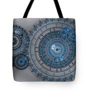 Blue clockwork machine Tote Bag by Martin Capek