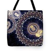 Blue Clockwork Tote Bag by Martin Capek