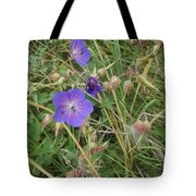 Blue Flowers Tote Bag by John Williams