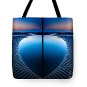 Blue Hour Diptych Tote Bag by Adrian Evans