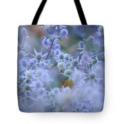 Blue Infinity Tote Bag by Jenny Rainbow