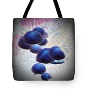 Blue Magic Mushrooms Tote Bag by Chalet Roome-Rigdon