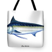 Blue Marlin Tote Bag by Charles Harden