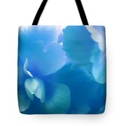 Blue Melody Begonia Floral Tote Bag by Jennie Marie Schell