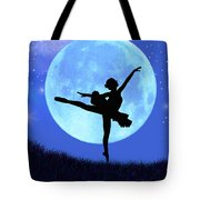 Blue Moon Ballerina Tote Bag by Alixandra Mullins