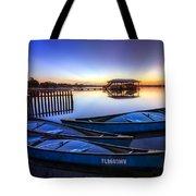 Blue Morning Tote Bag by Debra and Dave Vanderlaan