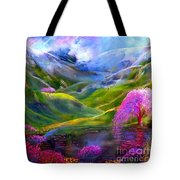 Blue Mountain Pool Tote Bag by Jane Small