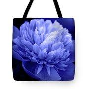 Blue Peony Tote Bag by Sandy Keeton