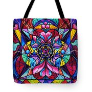 Blue Ray Healing Tote Bag by Teal Eye  Print Store