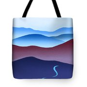 Blue Ridge Blue Road Tote Bag by Catherine Twomey