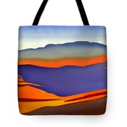 Blue Ridge Mountains East Fall Art Abstract Tote Bag by Catherine Twomey