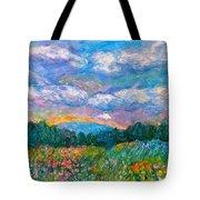 Blue Ridge Wildflowers Tote Bag by Kendall Kessler